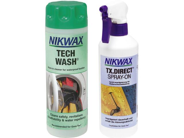 Nikwax Tech Wash + TX.Direct Spray-On 2 x 300 ml farverig (2019) | Personlig pleje